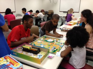 Old-fashioned board games were a hit at summer camp.