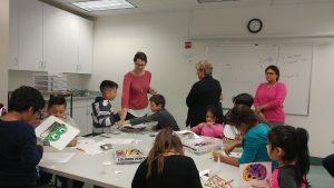 volunteers and kids on parents night 1